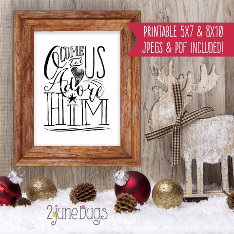 Printable Wall Art - O Come All Ye Faithful