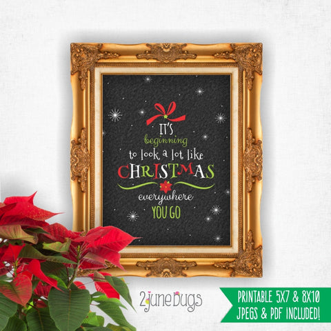 Printable Wall Art - Beginning to look like Christmas