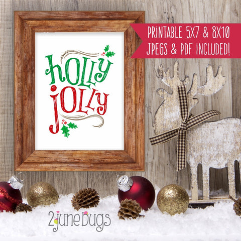 Printable Wall Art - Holly Jolly