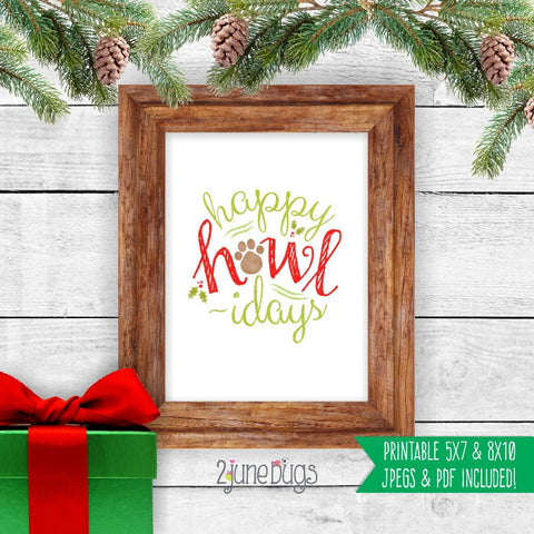 Printable Wall Art - Happy Howlidays