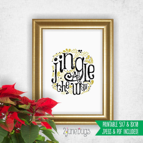 Printable Wall Art - Jingle All the Way
