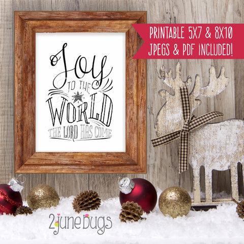 Printable Wall Art - Joy to the World