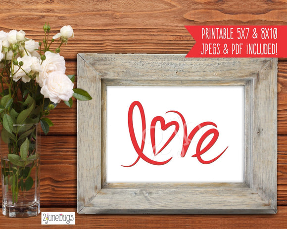 Printable Wall Art - Love