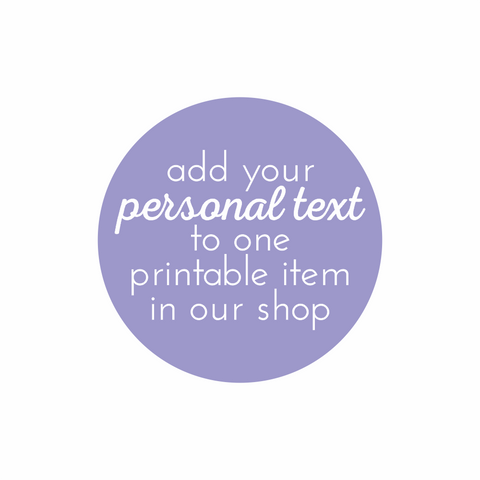 Add your Personal Text to an Item