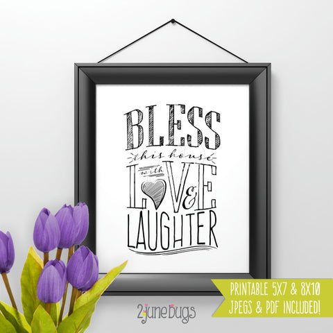Printable Wall Art - Bless This House