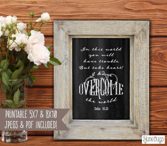 Printable Bible Verses - John 16:33 Wall Art