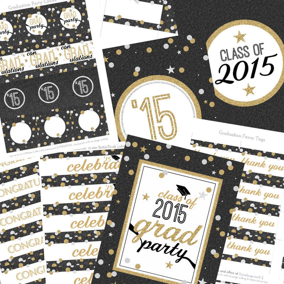 2 june bugs Printable Graduation Party Package