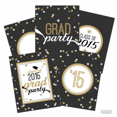 2 june bugs Editable Printable Graduation Party Signs