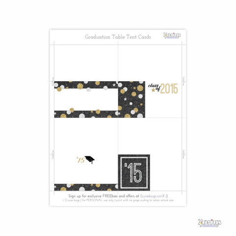 2 june bugs Editable Printable Graduation Table Tent Cards