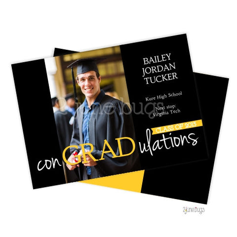 "con""GRAD""ulations Photo Graduation Announcement"