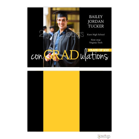 2 june bugs Photo Graduation Announcement