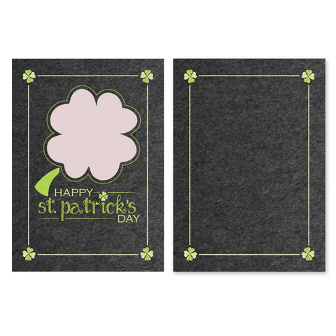 2 june bugs St. Patrick's Day Shamrock Frame Photo Card