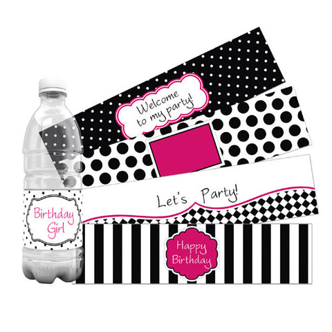 Little Diva Water Bottle Labels