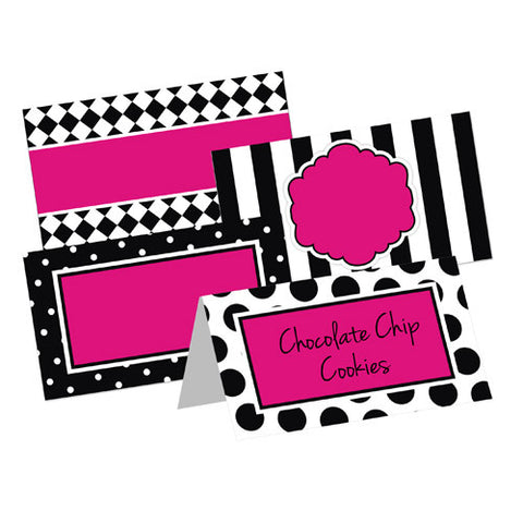 Little Diva Table Tent Cards