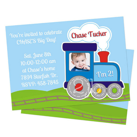 Birthday Invitation - Choo Choo Train