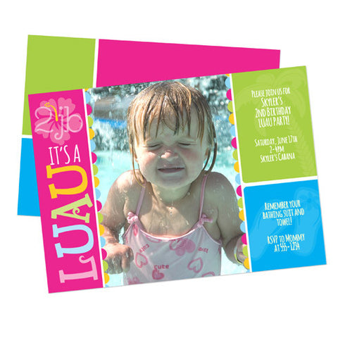 Birthday Invitation - Luau 2