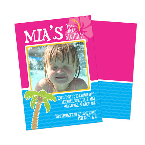 Birthday Invitation - Luau