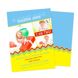 Birthday Invitation -  Colorful Chevrons
