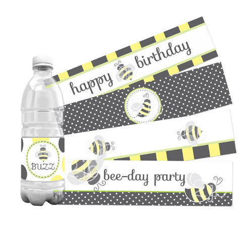 Bumblebee Water Bottle Labels