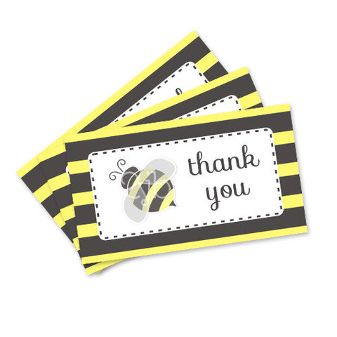 Bumblebee Favor Tags