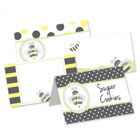 Bumblebee Table Tent Cards