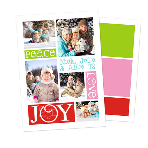 Christmas Photo Card - Peace Love Joy