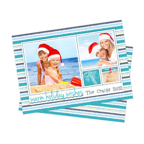 Christmas Photo Card - Warm Wishes