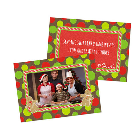 Christmas Photo Card - Gingerbread