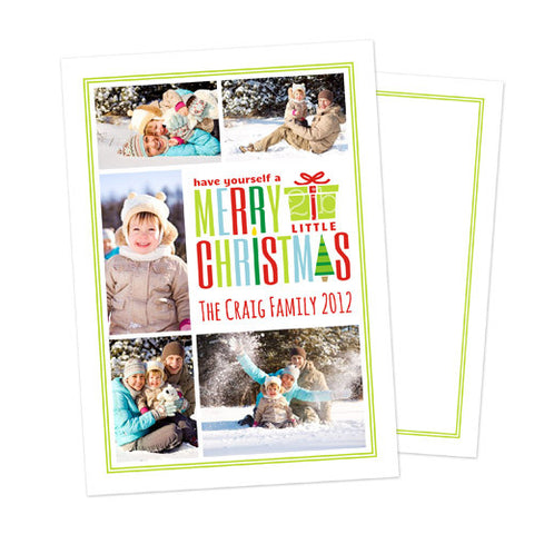 Christmas Photo Card - Merry Little Christmas