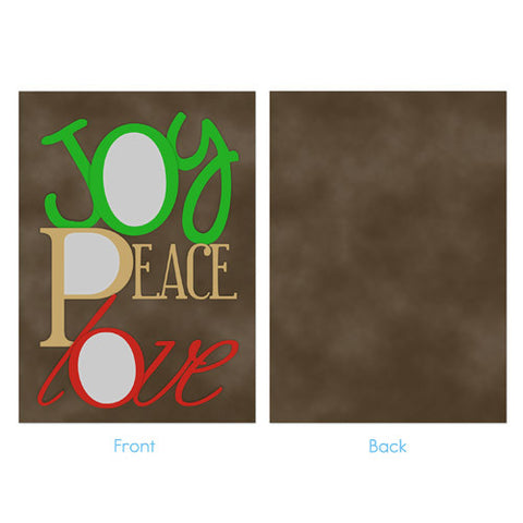 Christmas Photo Card - Joy, Peace, Love