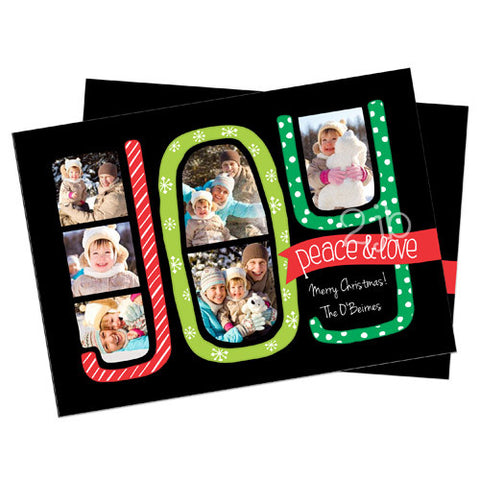Christmas Photo Card - Joy, Peace, and Love