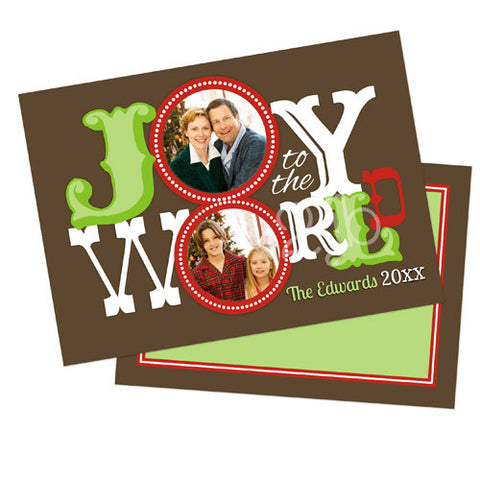 Christmas Photo Card - Joy to the World