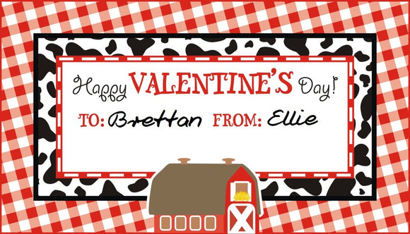 Farm/Barnyard Valentines/Favor Tags