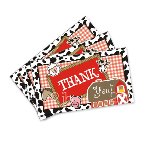 Farm/Barnyard Favor Tags