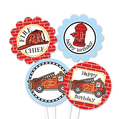 Firetruck Party Circles