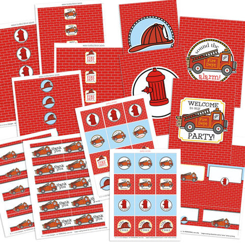 Firetruck Party Kit
