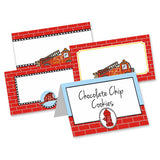 Firetruck Table Tent Cards