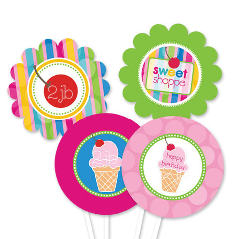 Ice Cream Party Circles