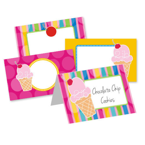 Ice Cream Table Tent Cards