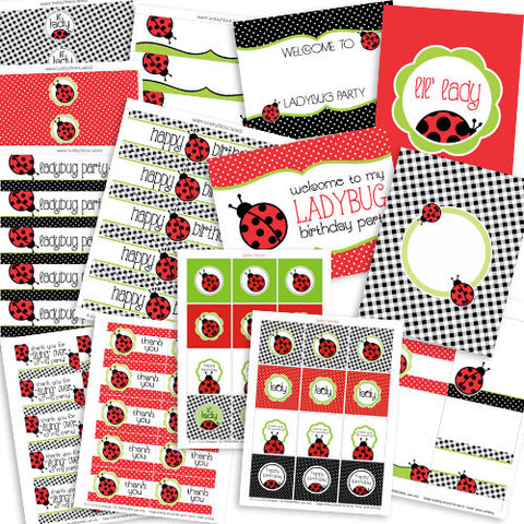 Printable Ladybug Birthday Party