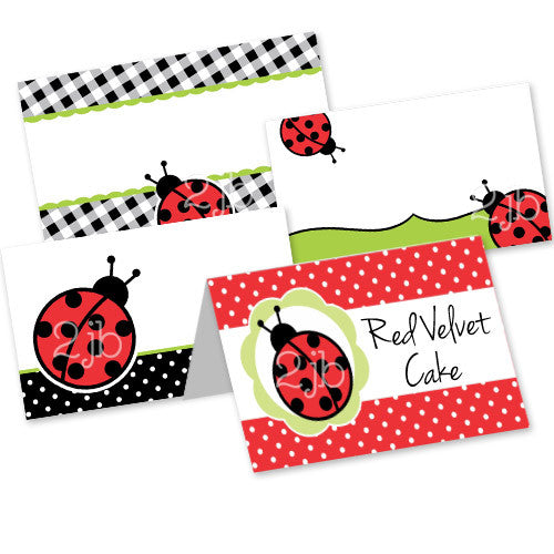 Ladybug Table Tent Cards