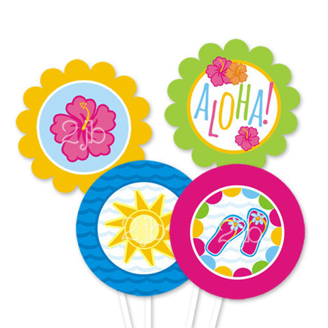 Luau Party Circles