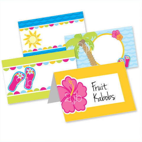 Luau Table Tent Cards