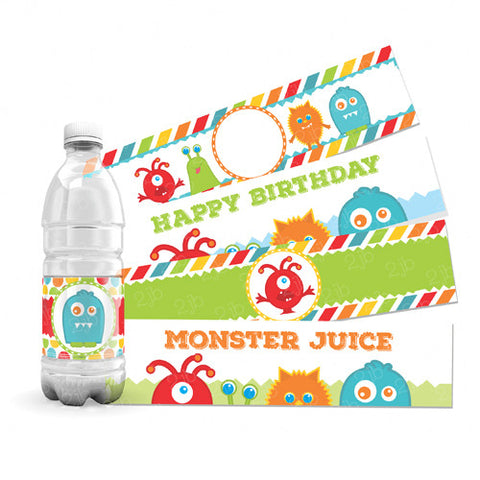 Little Monster Water Bottle Labels