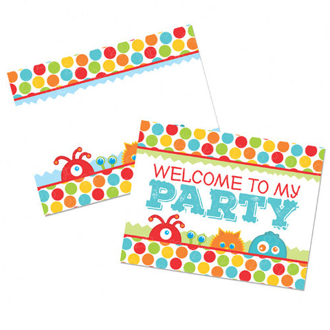 Little Monster Party Signs