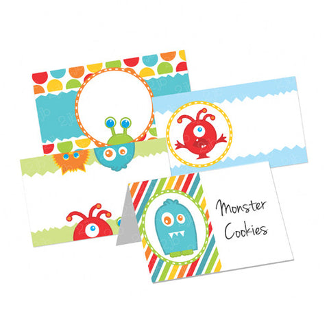 Little Monster Table Tent Cards
