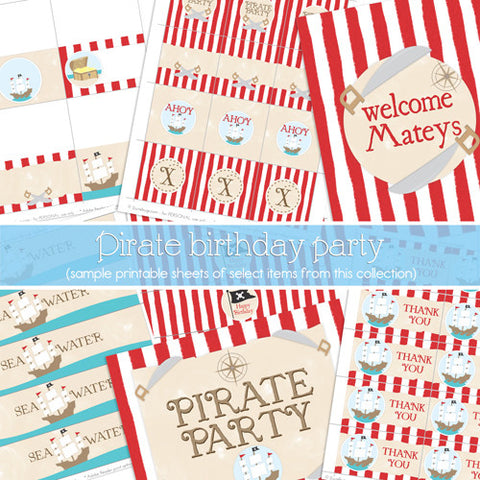 Pirate Printable Party Package