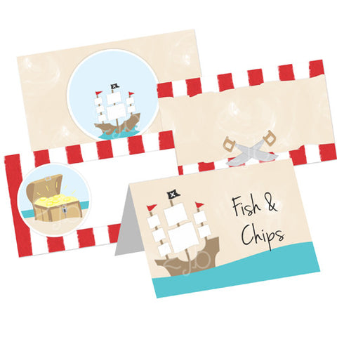 Pirate Table Tent Cards