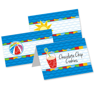 Pool/Beach Table Tent Cards