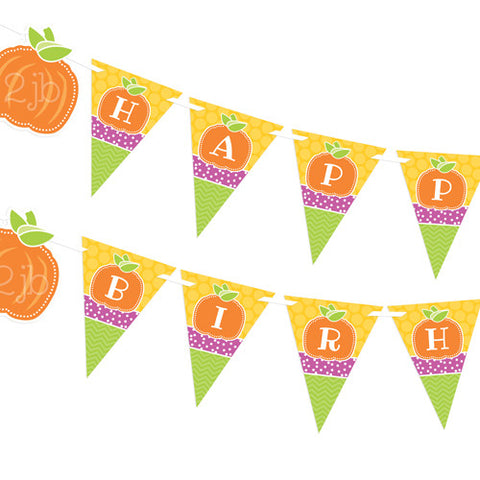 Preppy Pumpkin Party Banner